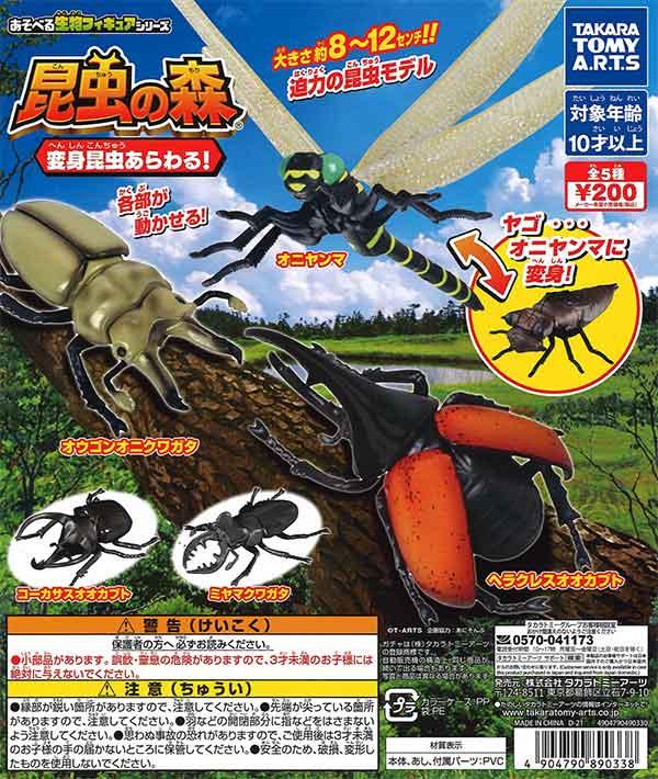 昆虫の森 変身昆虫あらわる! (50個入り)