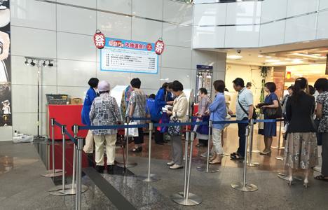 東武百貨店様_抽選会セール会場